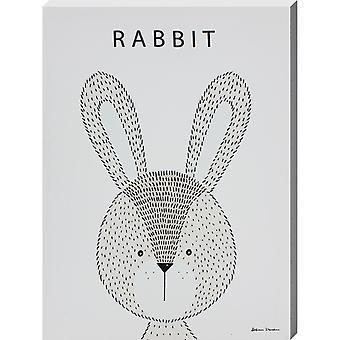 Grindstore Rabbit Canvas Print