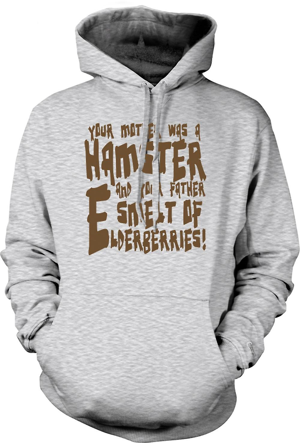 Mens Hoodie - Your mother was a hamster - Funny Quote