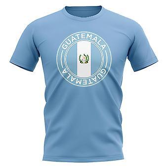 Guatemala Football Badge T-Shirt (Sky)