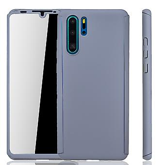 Huawei P30 Pro Phone Case Protection Case Full Cover Tank Protection Glass Grey