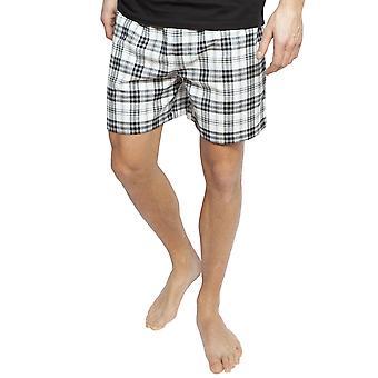 Cyberjammies 6387 mäns Isaac svart mix kontrol lera bomull pyjamas kort
