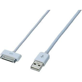iPad/iPhone/iPod Data cable/Charger lead [1x USB 2.0 connector A - 1x Apple dock plug]