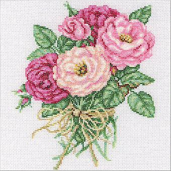 Bouquet Rose compté point de croix Kit-7,5 « X8.75 » 14 barres M563