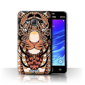 STUFF4 Case/Cover for Samsung Z1/Z130/Tiger-Orange/Aztec Animal