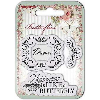 ScrapBerry's Butterflies Clear Stamps 2.7