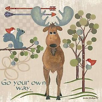 Lil Boys Moose Poster Print by  Anita Phillips