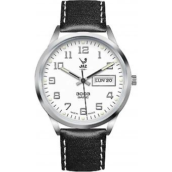 Jaz 3003 Datic JZ112/2 - Watch leer zwart man datum