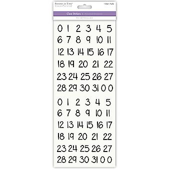 MultiCraft Letters & Numbers Medley Clear Stickers-Calendar Black SS451O