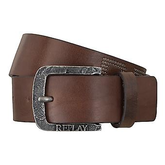 REPLAY belt leather belts men's belts jeans belt Brown 5063