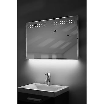 Ambient Ultra-Slim LED Bathroom Mirror With Demister Pad & Sensor K14
