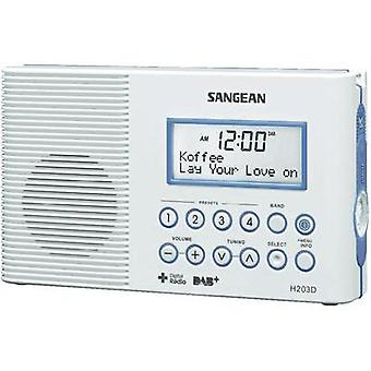 DAB+ Bathroom radio Sangean H-203D DAB+, FM Torch, waterproof White