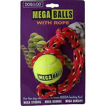Dog & Co Mega Ball With Rope 2.5