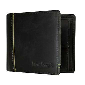 Bruno banani mens wallet purse wallet black/green 5329