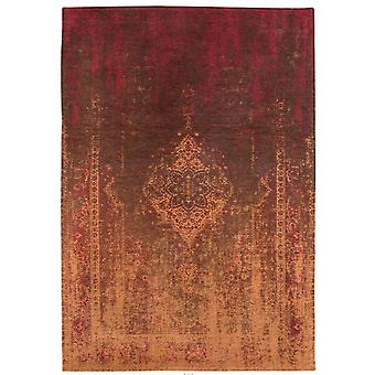 Distressed Mango Brown Medallion Flatweave Rug 60 x 90 - Louis de Poortere