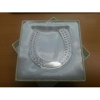 Amore Wedding Gift - Silverplated Horse Shoe with Engraving Plate - WG539 - New