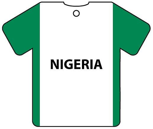 Personalised Nigeria Flag Jersey Car Air Freshener