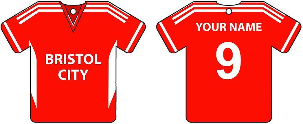 Personalised Bristol City Football Shirt Car Air Freshener