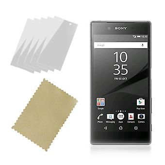 InventCase Screen Protector Guard with Cleaning Cloth (5-Pack) for Sony Xperia Z5 2015