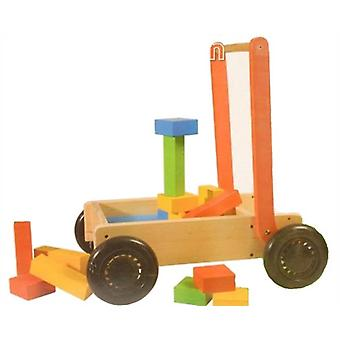 27Pcs Wooden Push Cart