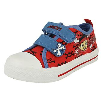 Boys Disney Jake and the Never Land Pirates Crossbone Canvas Shoe