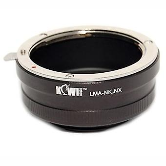 Kiwifotos Lens Mount Adapter: Allows Nikon F-Mount Lenses to be used on Samsung NX5, NX10, NX11, NX100, NX200