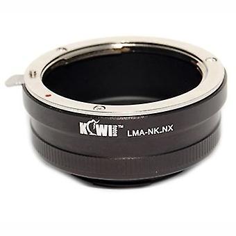 Kiwifotos Objektiv-Mount-Adapter: Ermöglicht die Nikon F-Mount-Objektive verwendet werden, auf Samsung NX5, NX10, NX100, NX11 NX200