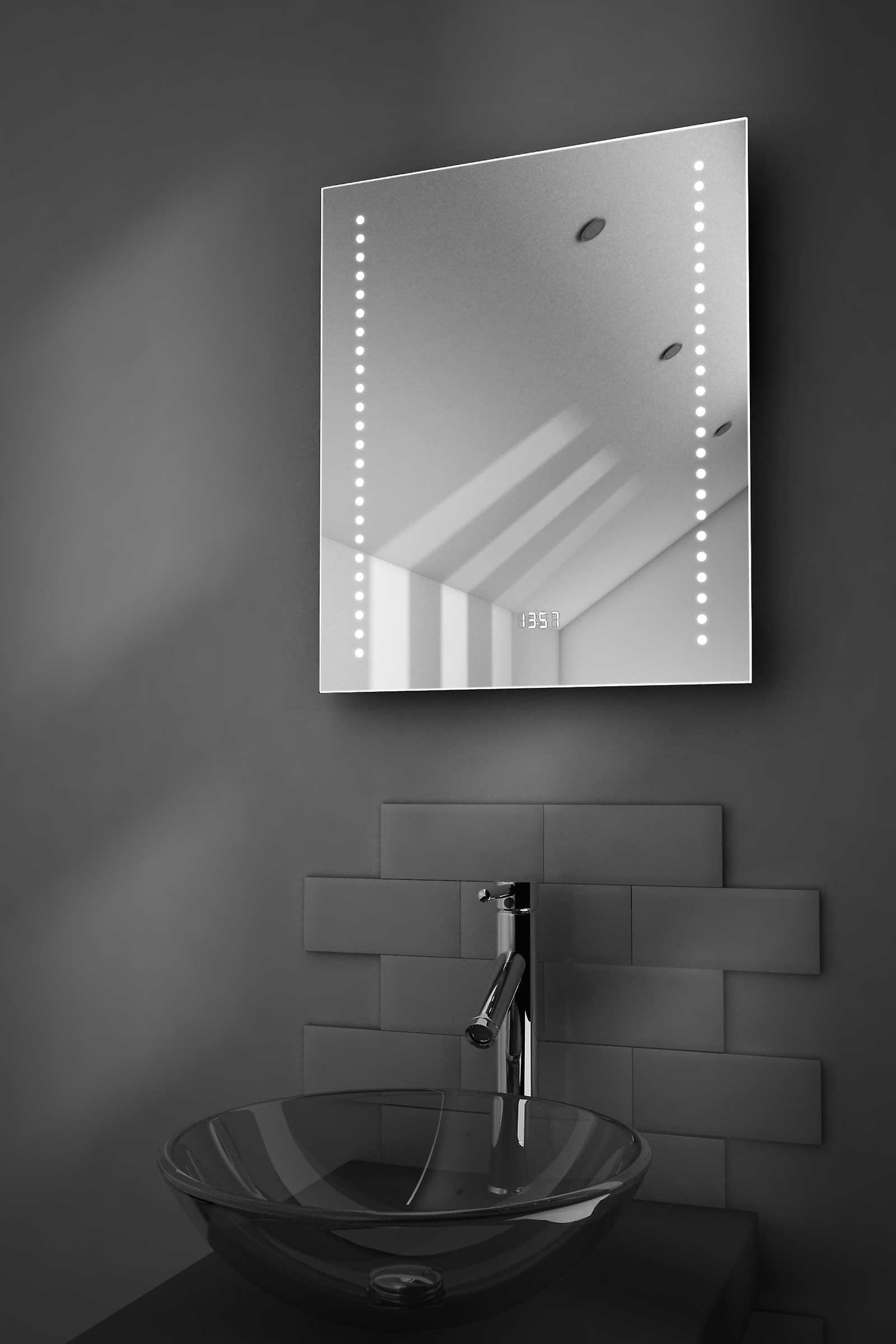 Dream Shaver Bathroom Mirror With Clock, Demister & Sensor k191