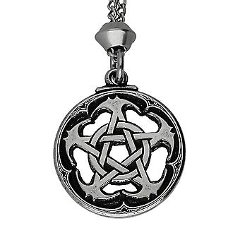 Handmade Assassin's Creed Pentacle Pewter Pendant ~ 22 inch Chain