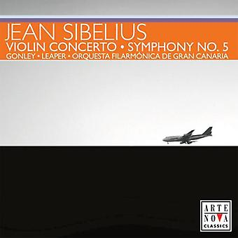 J. Sibelius - Sibelius: Violinkoncert; Symfoni No. 5 [CD] USA importerer