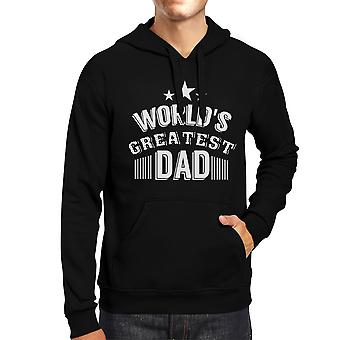 World's Greatest Dad Unisex Black Hoodie Funny Design Shirt For Dad