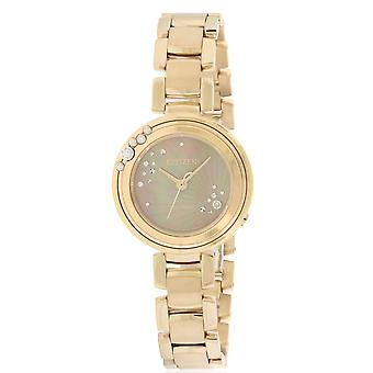 Citizen Eco-Drive L Carina dameshorloge Rose goud-Tone EM0463-51Y