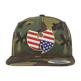 Wu-wear Snapback Cap - American Camo