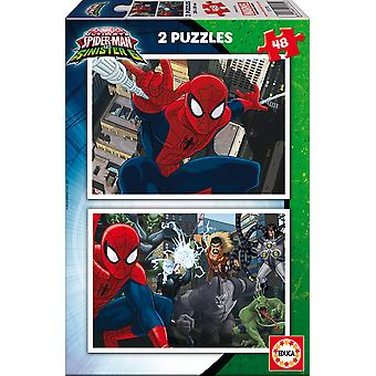 Educa Spiderman Puzzle Doble 2X48 (Toys , Preschool , Puzzles And Blocs)