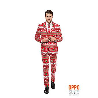 Opposuit Winter Wonderland suit jul slimline Premium 3-delt sæt
