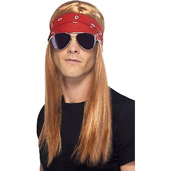 90's rocker costume set Axl Rose 90ies set 3-piece rock star