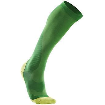 2XU hombres rendimiento compresión calcetín verde - MA2442e