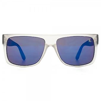 Fenchurch Flat Top Sunglasses In Matte Clear With Black Temples