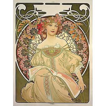 Alphonse Mucha Champagne Printer Publisher Poster Print Giclee