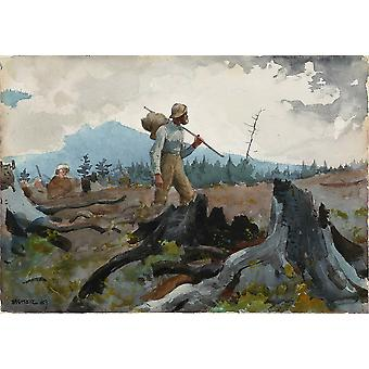 Winslow Homer - Guide und Holzfäller (1889) Poster Print Giclee