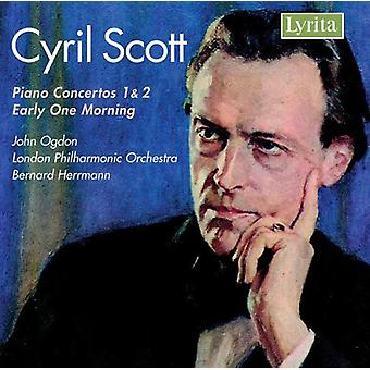 C. Scott - Cyril Scott: Piano Concertos 1 & 2; Tidligt en morgen [CD] USA importerer