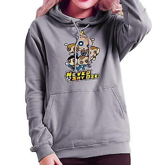 Goonies Powerpuff flickor lättja bit Mikey mun Data Women's Hooded Sweatshirt