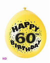 "Balloons HAPPY 60th BIRTHDAY 9"" Latex Balloons (10)"