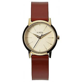 Nixon de Kenzi Leather Watch - goud/zadel
