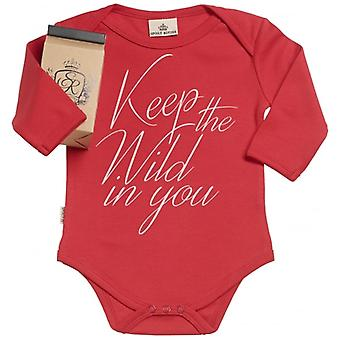 Spoilt Rotten Keep The Wild In You Organic Baby Grow In Gift Milk Carton