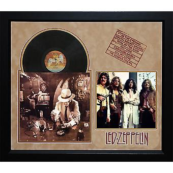LED Zeppelin - In Through the Out Door - Album LP firmato da 4 membri - COA con cornice + Dual