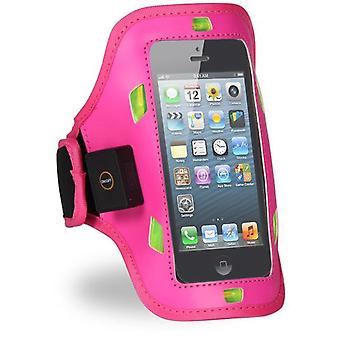 Superstudio Bracelet Sport With Reflective Led For Iphone 5 Rosa Fiusha