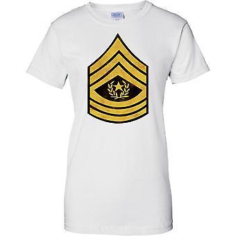 E.U. Exército comando Sargento Major listras - efeito Grunge - feminina T-Shirt