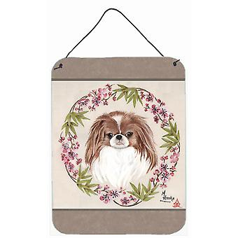 Japanese Chin Wreath of Flowers Wall or Door Hanging Prints