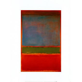 Violet Green and Red Poster Poster Print by Mark Rothko