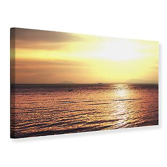 Canvas Print Sunset At The Lake
